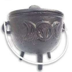 Caldero hierro colado símbolo Diosa Madre