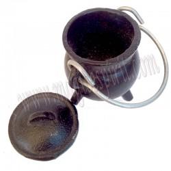 Caldero hierro colado liso pequeño