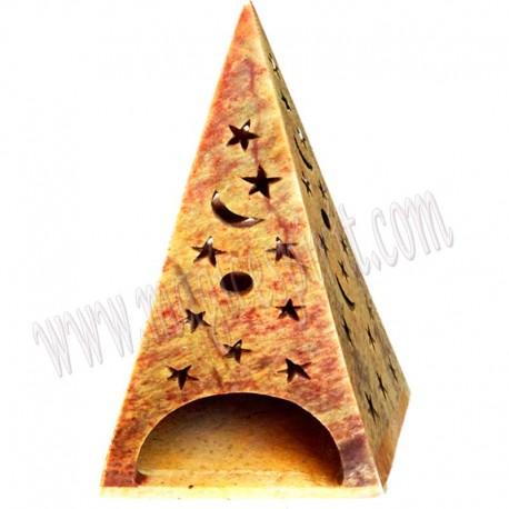 Pirámide estrellas y lunas Porta velas