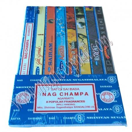 Pack de 8 inciensos Satya
