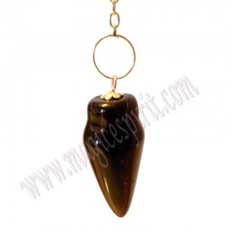 Pendulo Gota de Obsidiana Negra