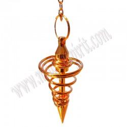Péndulo Metálico Espiral Color cobre