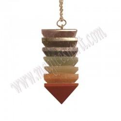 Péndulo minerales de los chakras cuadrado