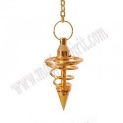 Péndulo Metalico Espiral Dorado