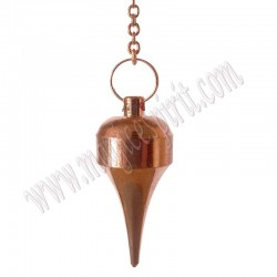 Péndulo de cobre punta fina