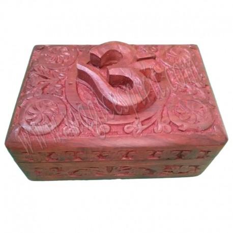 Caja de madera Om