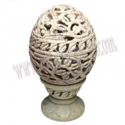 Porta velas piedra tallada