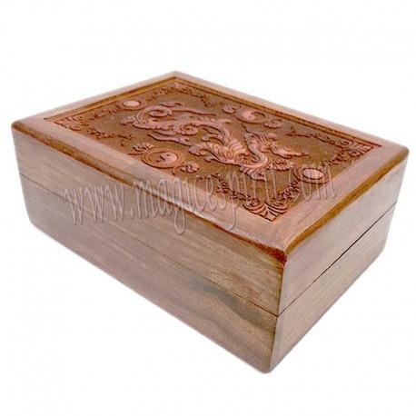Caja con grabado laser Dragón