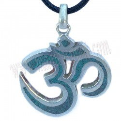 Colgante con simbolo Om con turquesa