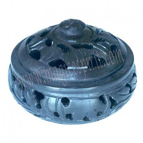 Incensario piedra jabón con tapa