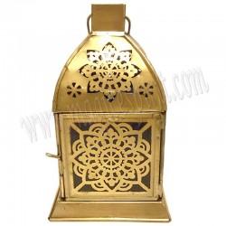 Farolillo dorado con mandala grabado