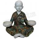 Buda porta velas doble con traje bordado